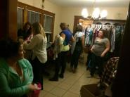 Clothing swap party guests