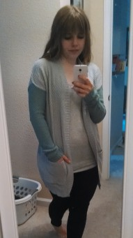 I can't wait to wear this sweater an leggings all the time come winter.