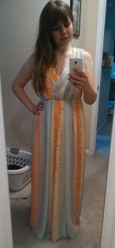 Anthropologie pastel maxi dress