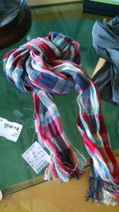 Plaid men's scarf