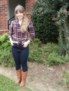 Plaid and high-waisted jeans   Christina's Best Life