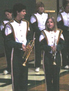 Christina in marching band | Christina's Best Life