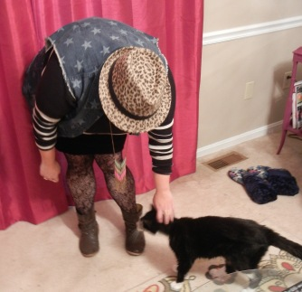 Allison petting Oreo | Christina's Best Life